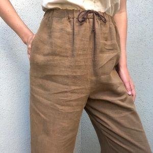 [vintage] linen ultra high waist easy pants